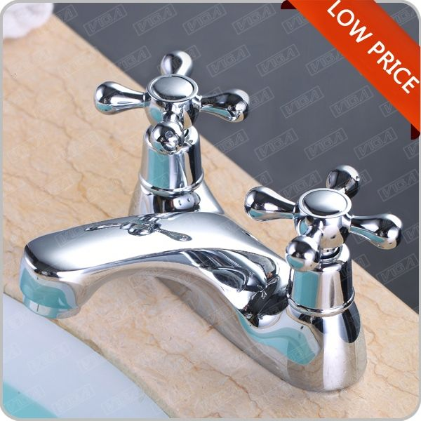 Luxury Brass Wash Basin Mixer, Hot & Cold Water Automatic Faucet, Chrome Finishing and Deck Mounted