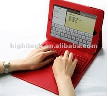 Wireless Bluetooth Keyboard Deluxe Leather Case for iPad 3
