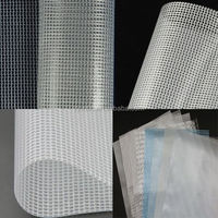 PVC transparent mesh fabric for bags