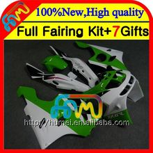 Body For KAWASAKI NINJA ZX6R 94-97 Green white 94 95 96 97 CL528 ZX636 ZX 6R 636 ZX-6R 1994 1995 1996 1997 Green white Fairing