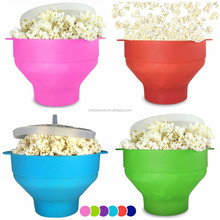 NEW Microwave Popcorn Popper,BPA Free Foldable Silicone Healthy Hot Air Popcorn Maker