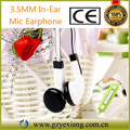 High Quality 3.5MM In-Ear Earphone With Mic For Mobile Phone
