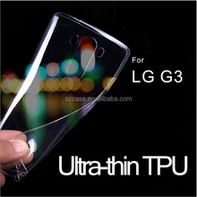 Ultra-thin tpu case cell phone g3 case , for Lg G3 high quality tpu case