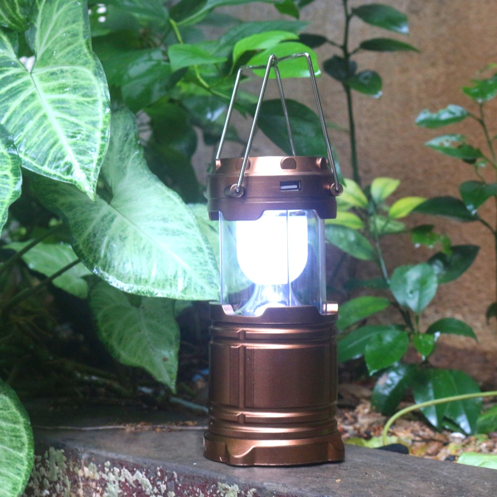 Outdoor Hiking Fishing Camping LED Lamp Solar Charging LED Camping Lantern Portable with Power Bank