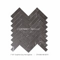 "New Arrival 1""x 4"" Polished Graphite Herringbone Mosaic Black Stone"