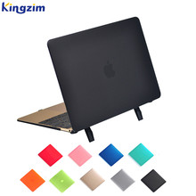 "New matte protect hard shell cover for mac book air 11"" 12"" 13"" case with stand"