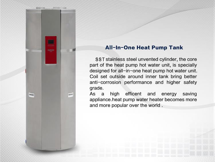All in one heat pump galvanised water tanks welcome in Europe and America