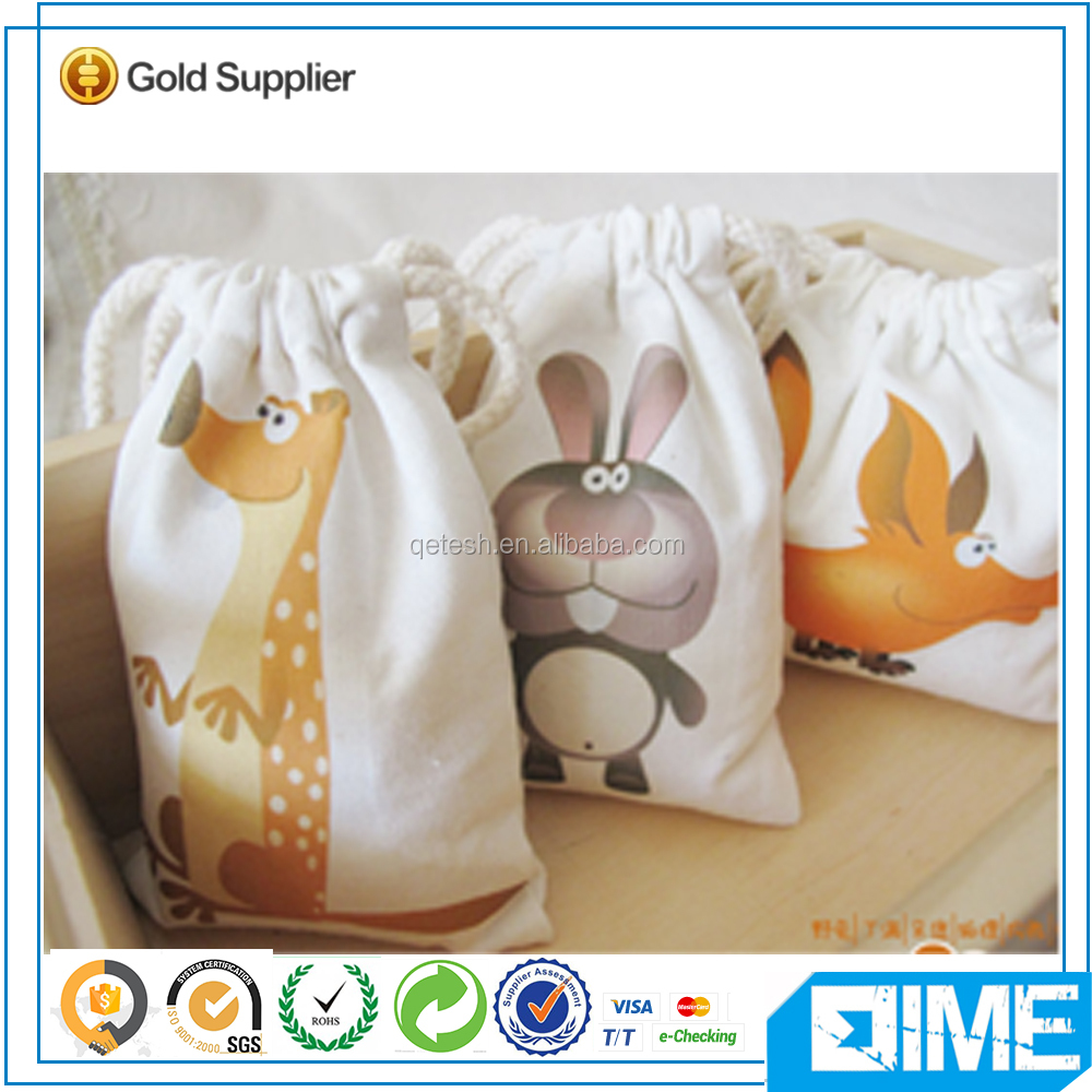 Animals Zoo Wholesale Cheap Cotton Drawstring Bag