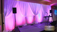 2016 hotsale backdrop aluminum pipe and drape for wedding and event decor