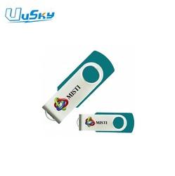 Swivel pen drive USB 3.0 custom logo 8GB 16Gb 32 GB usb flash drive, usb stick housing for coopration gift