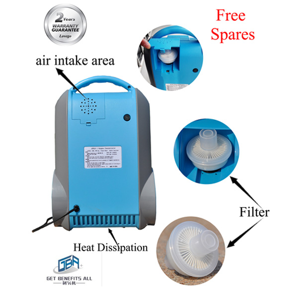 Electronics Medical Machine With Lithium Ion Battery Portable Oxygen Concentrator