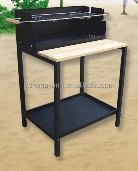 German outdoor smokeless wood table top charcoal vertical bbq grill