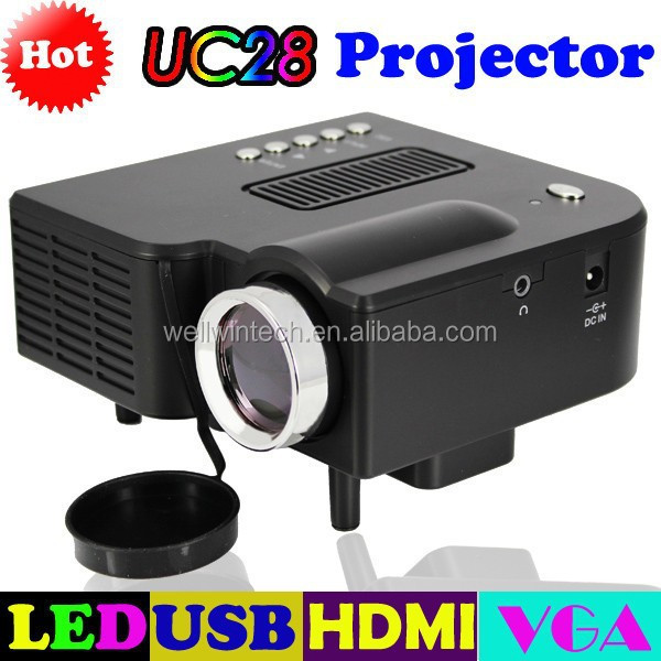 320*240 Cheap Multimedia protable Household Mini Projector with Built-in Speaker