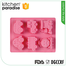 Modern train shaped cake mould silicone
