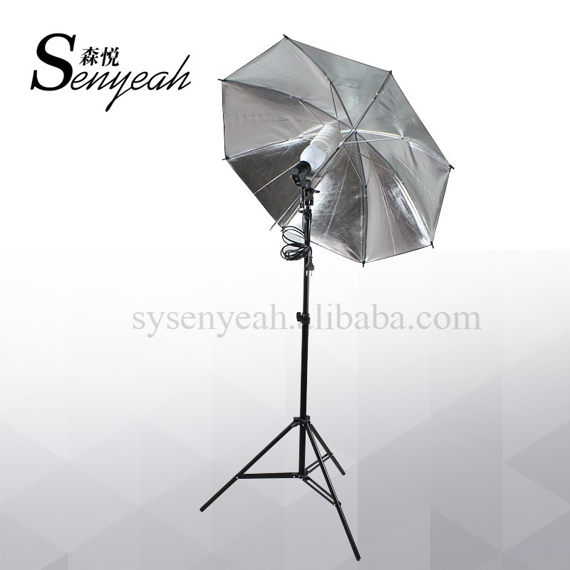 Photo Studio Light Reflective Umbrella Kit E27 Flash holder Bracket with Continuous Bulb