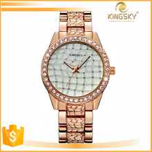 Wholesale vogue fashion quartz luxury rhinestone watch