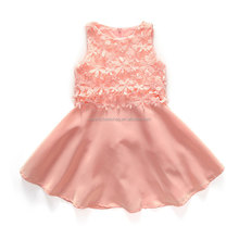 Girl dresses wholesale girl party wear western lace dress sleeveless for 3-11 years