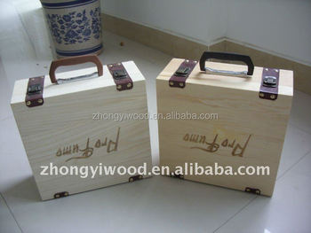 Wholesale standable wooden food packaging box