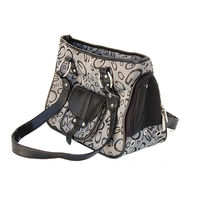 Dog Designer Denim Carrier Pet Travel Bag