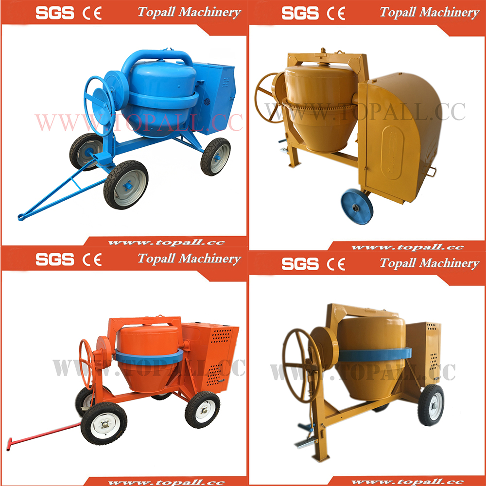 Hand Fed Concrete Mixer (Euro Standard)Portable Gas-Powered Concrete Mixer, Model# TDCM700
