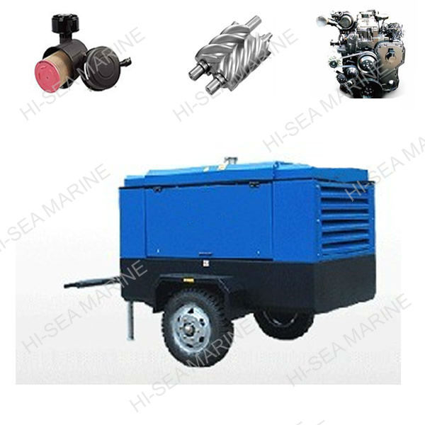 Diesel Driven Portable Screw Air Compressor