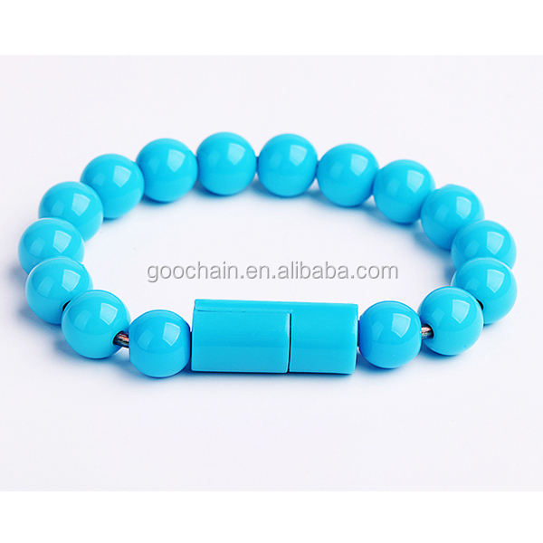 New buddha beads design bracelet usb cable for iphone 5 6 usb cable,New Bead Bracelet USB Recharge Cable ,Charging line