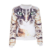 Animal print round neck long sleeves garment manufacturer women bolero jacket