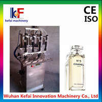KF01-V pneumatic perfume vacuum filling machine with 4 heads machines for small business