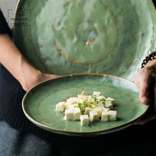 Antique Green Porcelain Dinner <strong>Plates</strong> Round Serving <strong>Plate</strong>
