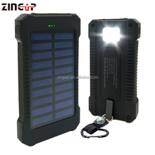 ZingUp Mobile Accessories Portable Charger 20000 Mah Waterproof Solar Power Bank