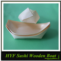 High quality wooden boat plate for sushi