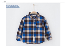 children clothing 2016 flannel check plus size wholesale children clothing shirt