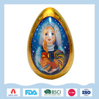 Easter egg shape tin boxes for kids' candy packaging