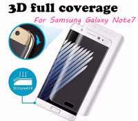 For Galaxy Note7 Screen Protector 3D Curved Full Cover Protective Soft Clear PET Film For Samsung Galaxy Note 7 S7 S7Edge S6edge
