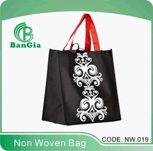 black Non Woven Shopping bag with full colour printing for shopping
