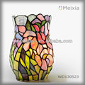 WD130523 tiffany art flower stained glass vase