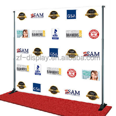 Adjustable aluminum telescopic stand,telescopic banner stand,pop up backdrop for trade show exhibit