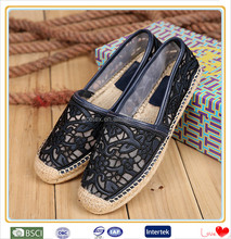Handmade german leather loafers espadrille shoes made in china factory
