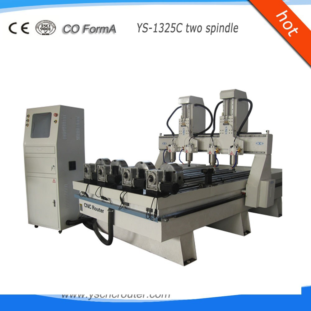 cnc foam cutting machine 1325 lathes for woodworking with rotary axis for leg