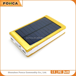 Hot outdoor travel emergency solar charger,Double USB port Portable Solar 15000mah power bank