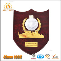 Custom High Quality Wooden Shield Award Plaques