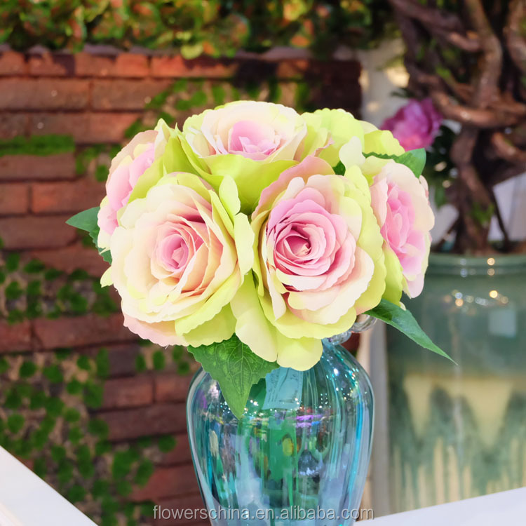 Silk vision flowers wholesale rose flowers artificial marriage decoration