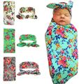 Baby Floral Headband Cotton Blanket for Baby
