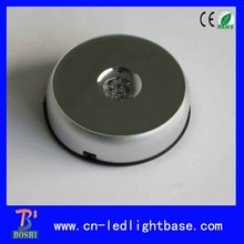 Plastic rotary round led display for cakes