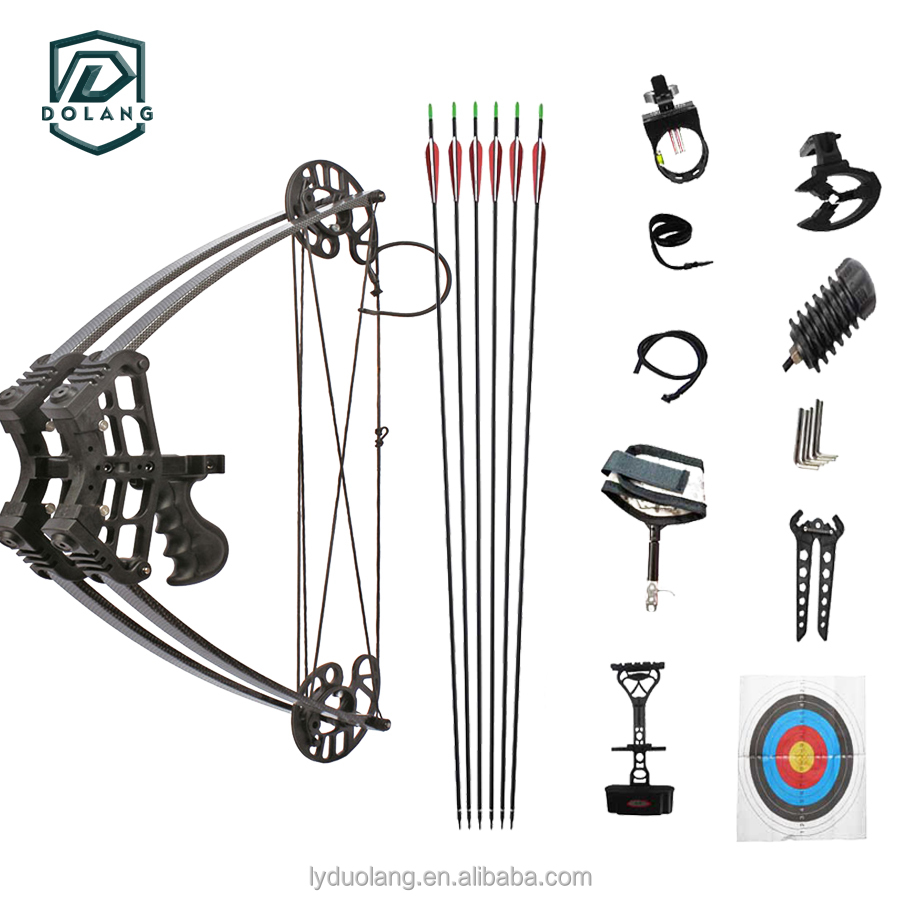 45lbs Black Archery Compound Bow Triangle Bow for Left Right Hand Hunter Shooter Hunting Shooting Slingshot Bow