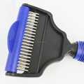 rubber handle 2in1 dog deshedding brush animal products for wholesale