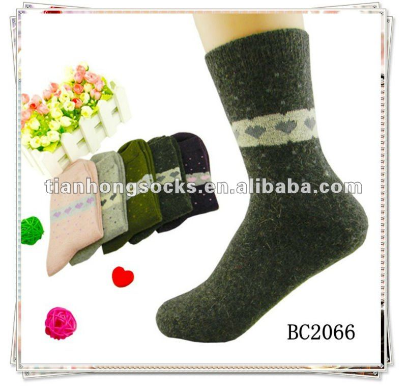 wholesale hot selling popular women's wool cashmere socks small MOQ 100 prs can retail
