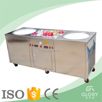 2 10 ice cream rolls fried ice cream machine/ice cream cold plate ice cream rolled machine