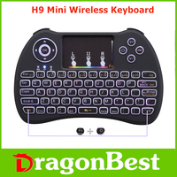 Dragonbest H9 Mini Keyboard with Touchpad colorful backlit wireless Keyboard with great price 2.4G Wireless remote