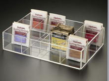 Custom clear acrylic tea bag storage box,wholesale tea bag holder